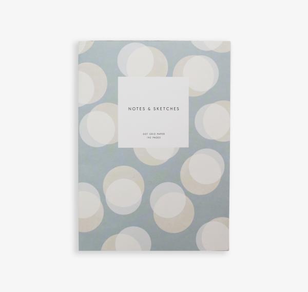 Kartotek Copenhagen Baburu Steel Blue Open Flat Notebook | Papperlapapp