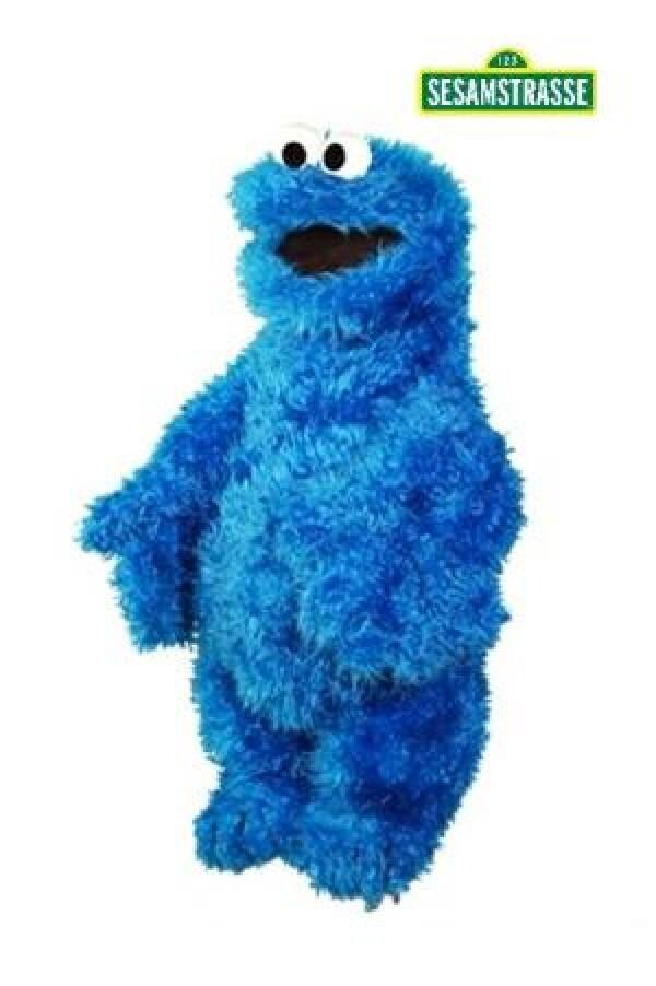 Hand puppet cookie monster 45 cm | KLEINE FISCHE