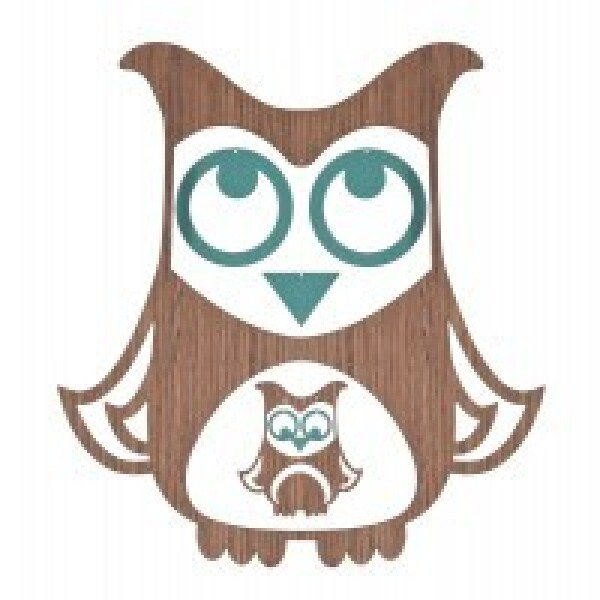 Mobile owl wood turquoise | Murmelwald