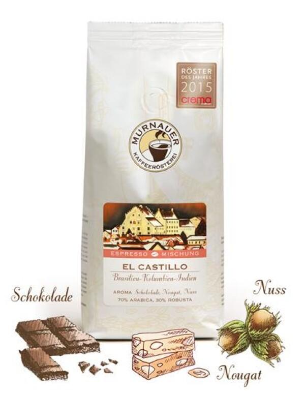 Murnauer Kaffeerösterei - El Castillo - Espressomischung - 250gr - Ganze Bohne | Murnauer Kaffeeroesterei