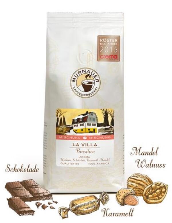 Murnauer Kaffeerösterei - La Villa - Brasilien - Kaffeemischung - 1000gr - Ganze Bohne | Murnauer Kaffeeroesterei