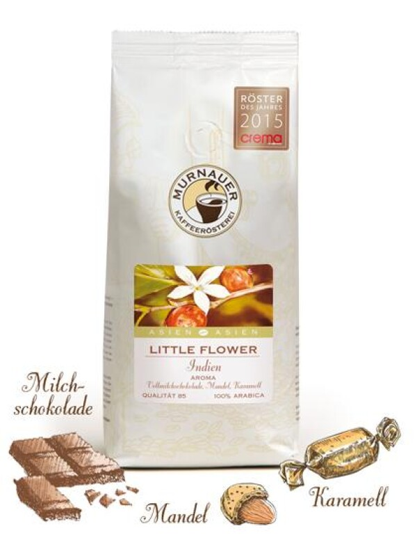 Murnauer Kaffeerösterei - Little Flower - Indien - 250gr - Ganze Bohne | Murnauer Kaffeeroesterei