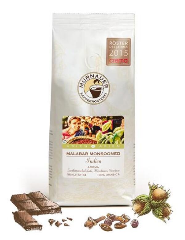 Murnauer Kaffeerösterei - Malabar - Indien - 250gr - Ganze Bohne | Murnauer Kaffeeroesterei