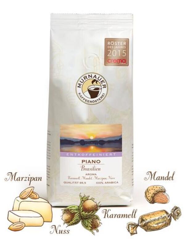 Murnauer Kaffeerösterei - Piano Entkoffeiniert - Brasilien - 250gr - Ganze Bohne | Murnauer Kaffeeroesterei