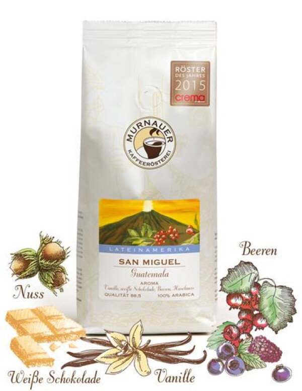 Murnauer Kaffeerösterei - San Miguel - Guatemala - 250gr - Ganze Bohne   Murnauer Kaffeeroesterei
