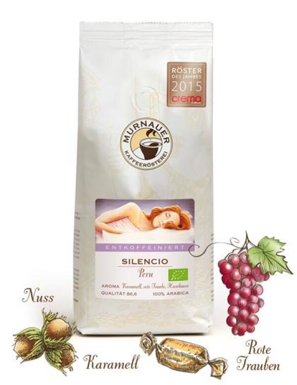 Murnauer Kaffeerösterei - Silencio Entkoffeiniert Bio - Peru - 1000gr - Ganze Bohne | Murnauer Kaffeeroesterei