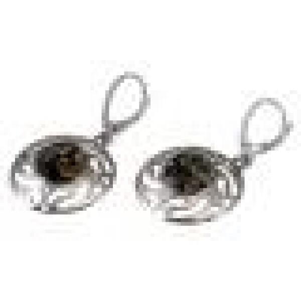 Silver-amber earrings   BalticBuy
