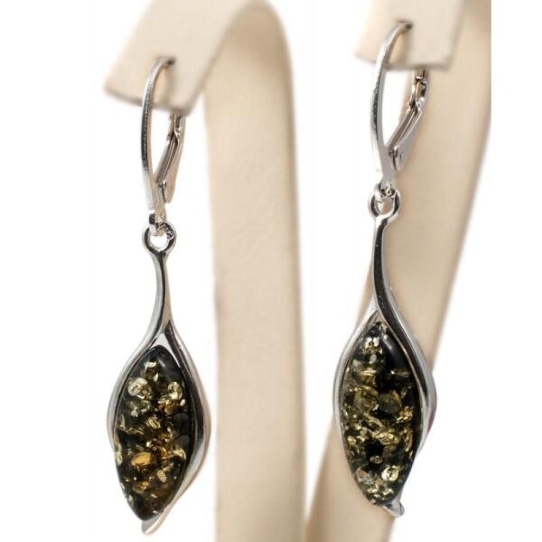 Silver-amber earrings | BalticBuy