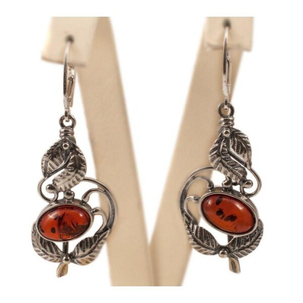 Silver-amber earrings | BalticBuy