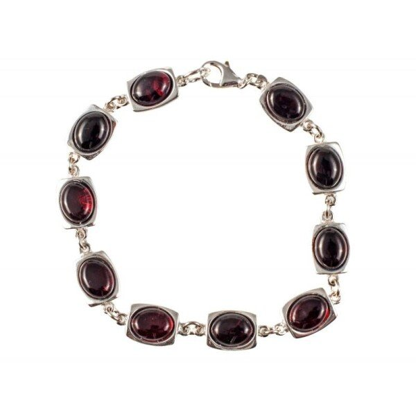 Silver bracelet with cherry amber | BalticBuy