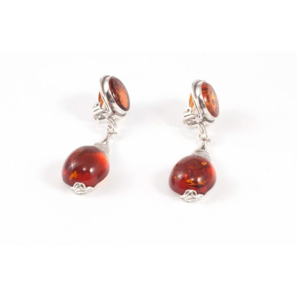 Silver Threads wih amber | BalticBuy