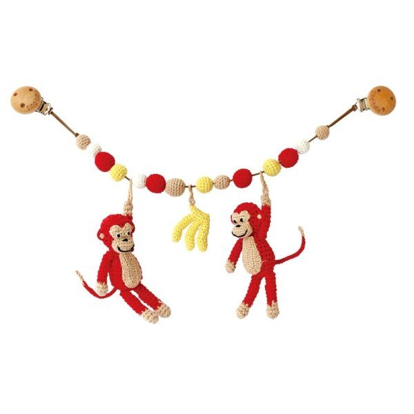 Monkey red stroller chain   Murmelwald