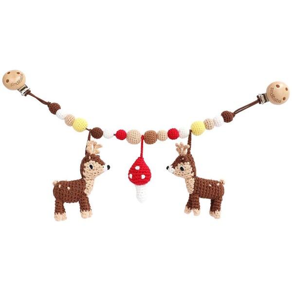 Deer stroller chain crocheted   Murmelwald