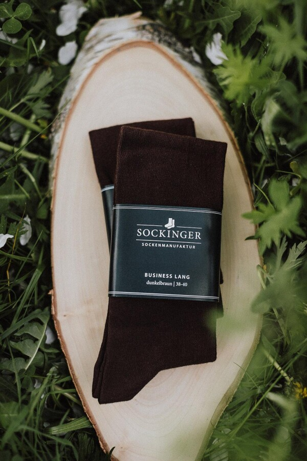 SOCKINGER BUSINESS long SOCK in brown | Sockinger-Die Sockenmanufaktur