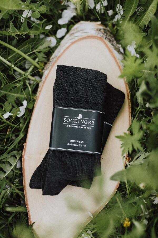 SOCKINGER BUSINESS SOCK in gray   Sockinger-Die Sockenmanufaktur