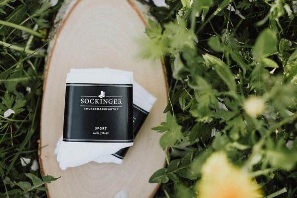 SOCKINGER SPORT and PRACTICE SOCK in white | Sockinger-Die Sockenmanufaktur