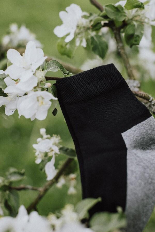 SOCKINGER SPORT SOCK in black / gray | Sockinger-Die Sockenmanufaktur