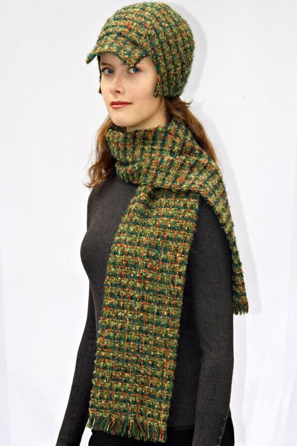 green plaid fringed scarf SOLO_121 | MOLOTOW