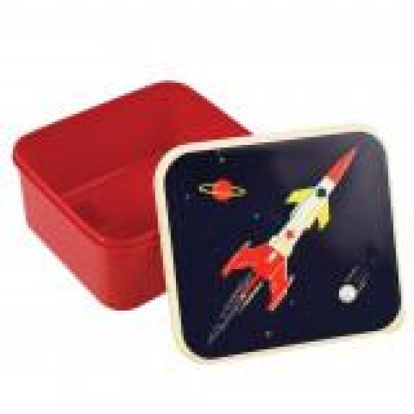 Lunch box LUNCH BOX Space Age rocket box REX | WohnGlanzVilla