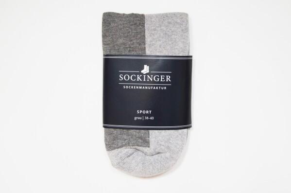 SOCKINGER SPORT SOCK in gray | Sockinger-Die Sockenmanufaktur