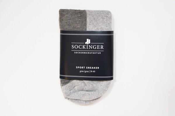 SOCKINGER SPORT SNEAKER in gray | Sockinger-Die Sockenmanufaktur
