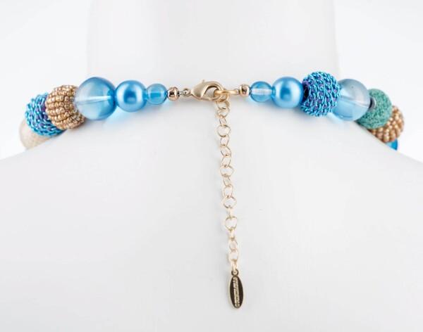 Short pearl necklace New Bowls Carribbean Beach made of a fine material mix | Perlenmarkt