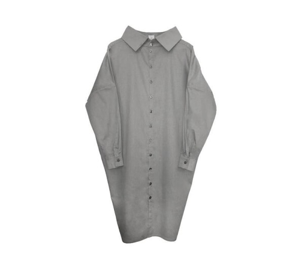 Statement dress made of organic cotton - light gray | Luxaa