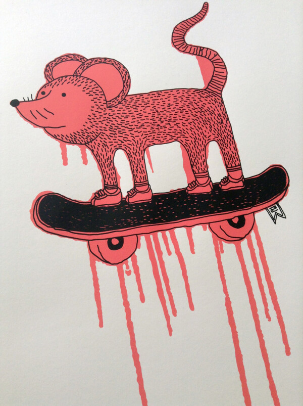 2nd - Flipsy Silkscreen print on paper | SITFLIP
