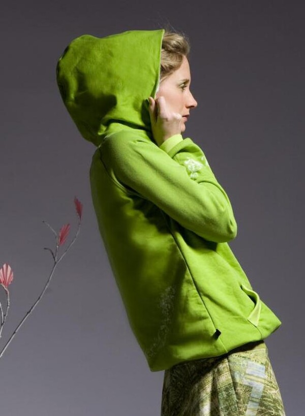 Sweatshirt green size 36/38 | Eva Brachten Modedesign