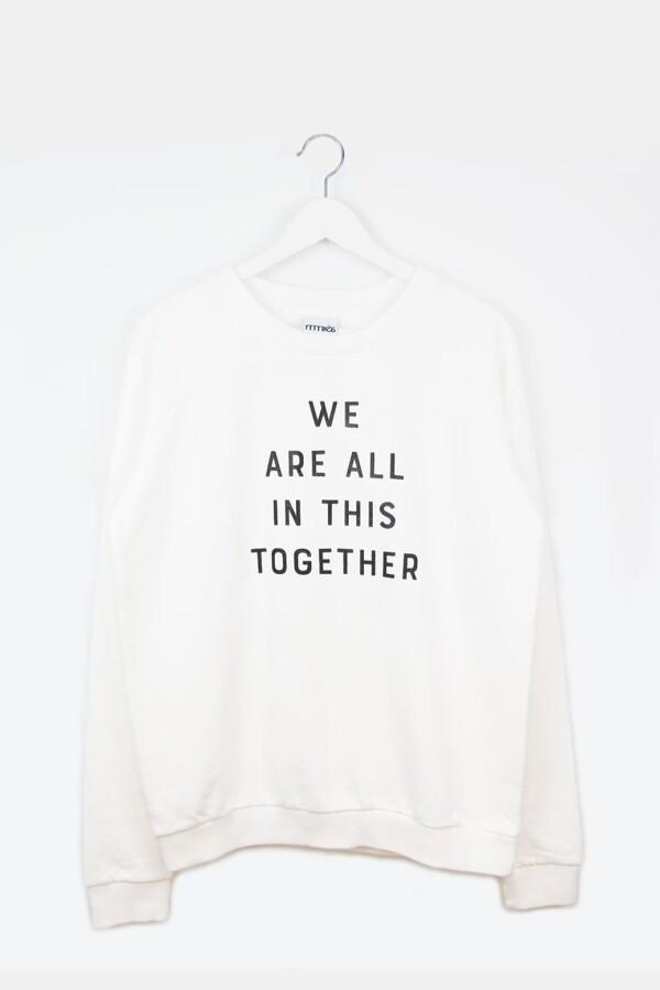 Sweatshirt TOGETHER white | mmies