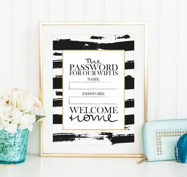 Tales by Jen Art Print: Wifi Password - Welcome Home | Tales by Jen