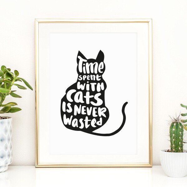Tales by Jen Art Print: Time spent with cats is never wasted | Tales by Jen