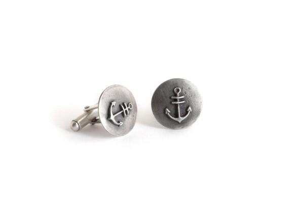 Anchor Cuff links   TomerM Jewelry