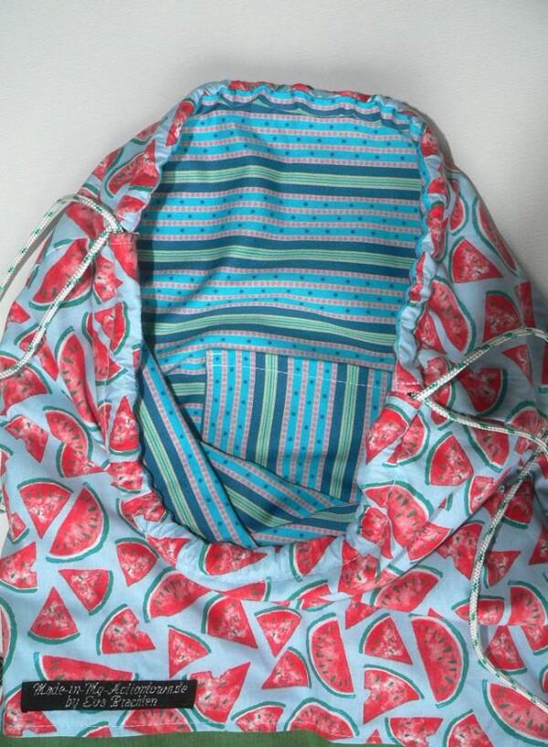 Gym bag with melon pattern | Eva Brachten Modedesign