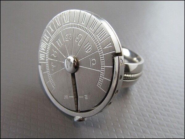 Sundial ring made of high quality stainless steel ring size 11 | Carol and Me