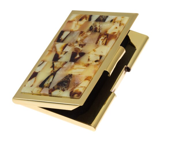 Business card tray with amber | BalticBuy