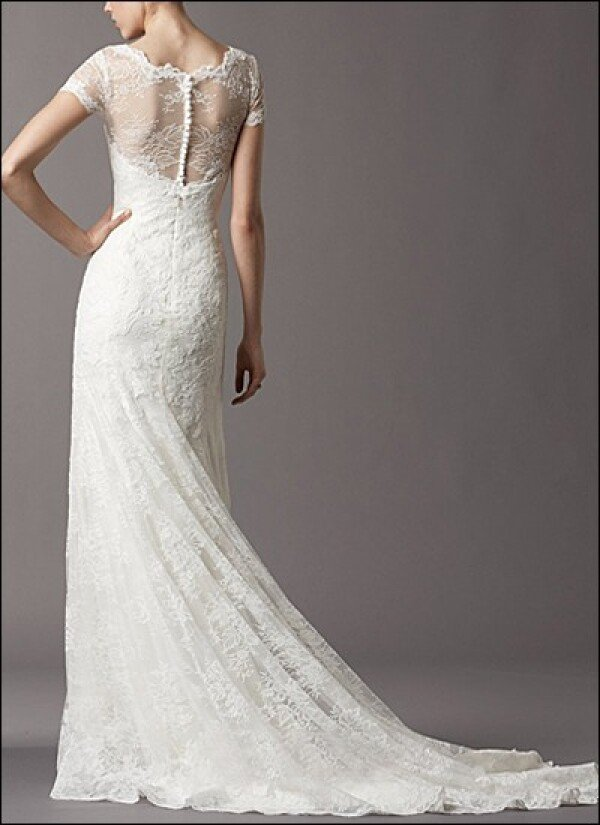 Sheath wedding dress lace makers | Lafanta | Braut- und Abendmode