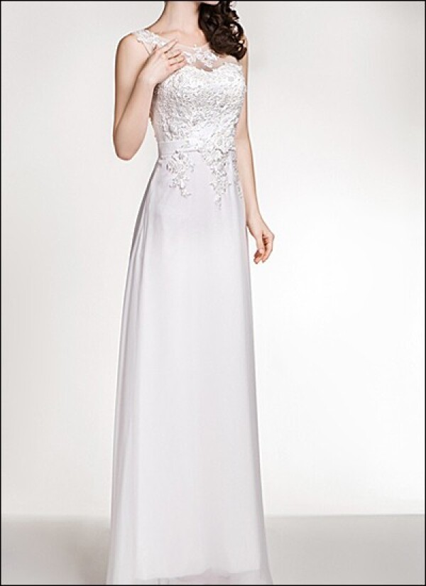 Sheath wedding dress with lace and carriers | Lafanta | Abend- und Brautmode