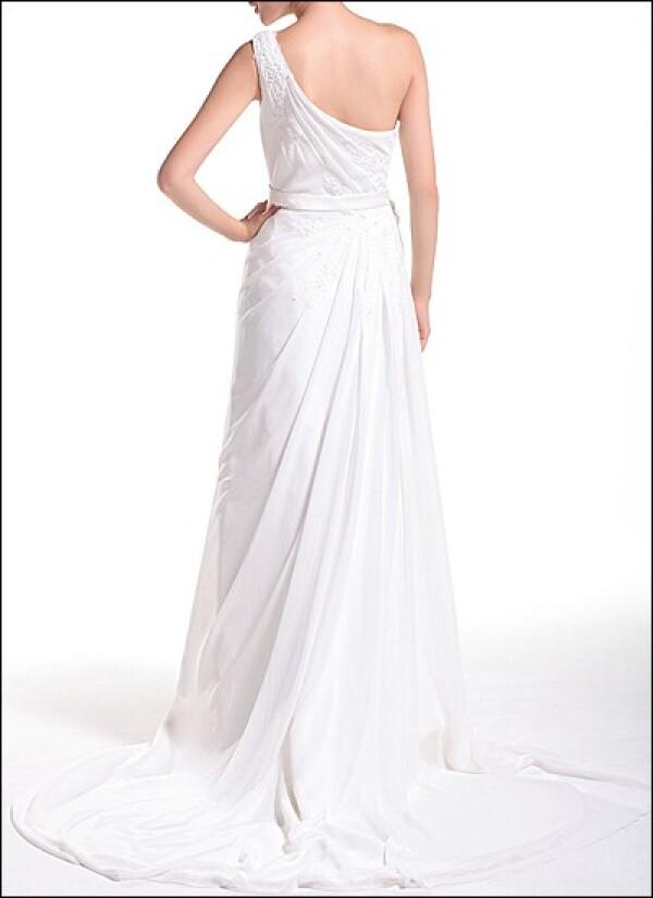One-shoulder wedding dress in the Greek style  | Lafanta | Braut- und Abendmode