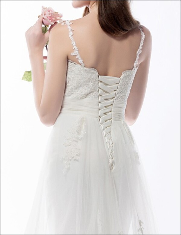 Wedding dress of top with straps and fishtail | Lafanta | Braut- und Abendmode