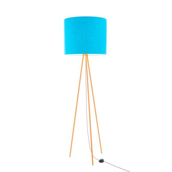 Hygge floor lamp Linum 130cm Orange linen shade textile cable | lumbono