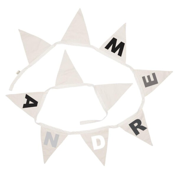 Pennant necklace with name monchrome | Minna's Room