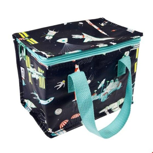 INSULATED COOL BAG SNACK BAG Space Age Rocket DESIGN REX | WohnGlanzVilla