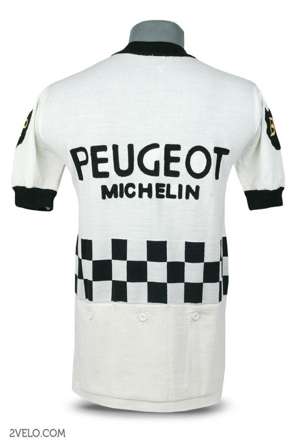 PEUGEOT BP vintage style wool cycling jersey | 2velo