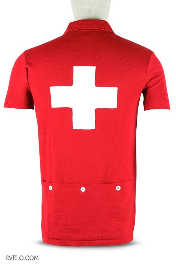 SWISS CHAMPION vintage style wool cycling jersey | 2velo