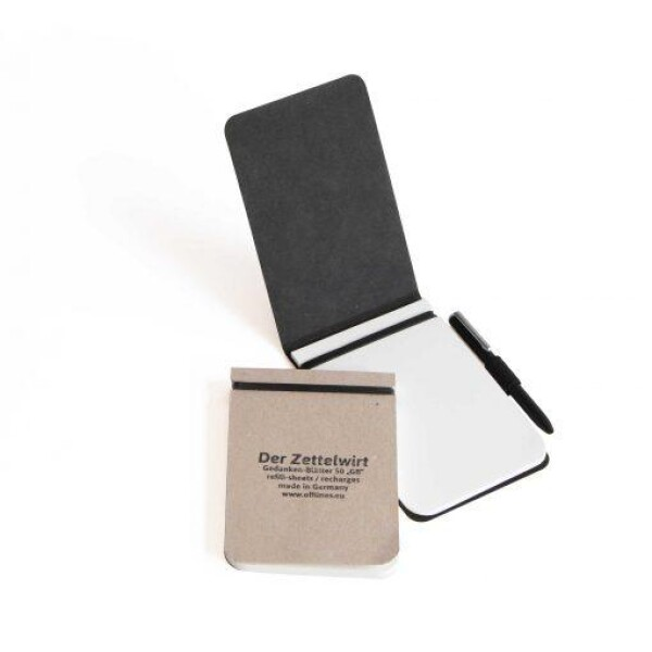 Offlines Black Der Zettelwirt Small Notepad with Pen | Papperlapapp