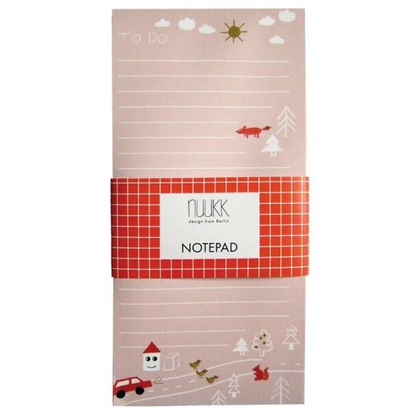 Nuukk Pink Happy Houses notepad | Papperlapapp
