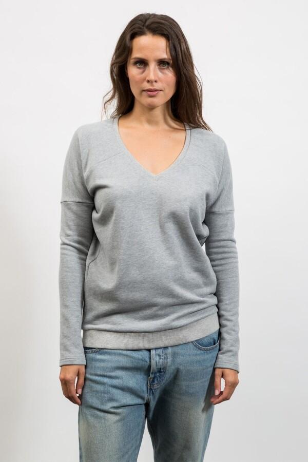 Sweatshirt mit V-Ausschnitt | mmies