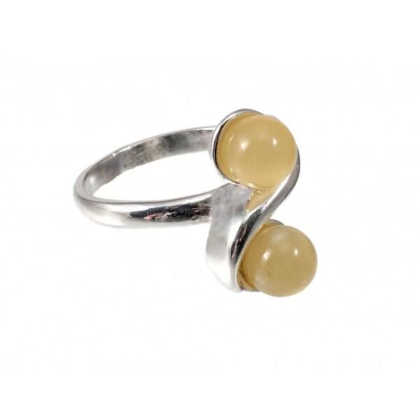 Bernstein-silberner Ring | BalticBuy