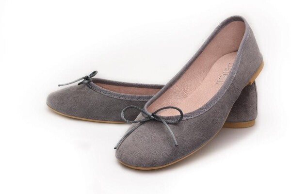 on sale b2ac3 a6b29 Ballerinas grau Wildleder Batelli Ballerinas Grey